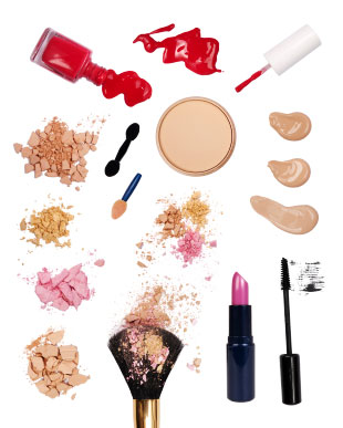 Image of beauty and makeup products