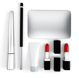 Image of makeup products