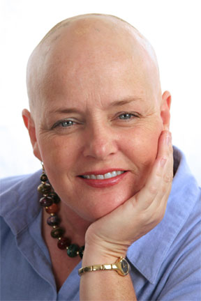Beautiful hairless woman