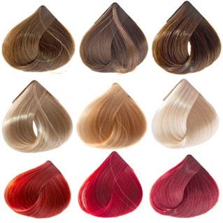 Hair colors sample