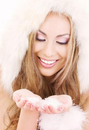 wedding makeup in winter
