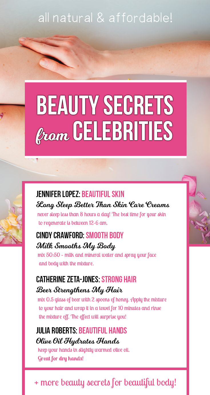 Beauty Secrets & Tips from Celebrities: All-Natural for Skin, Hair