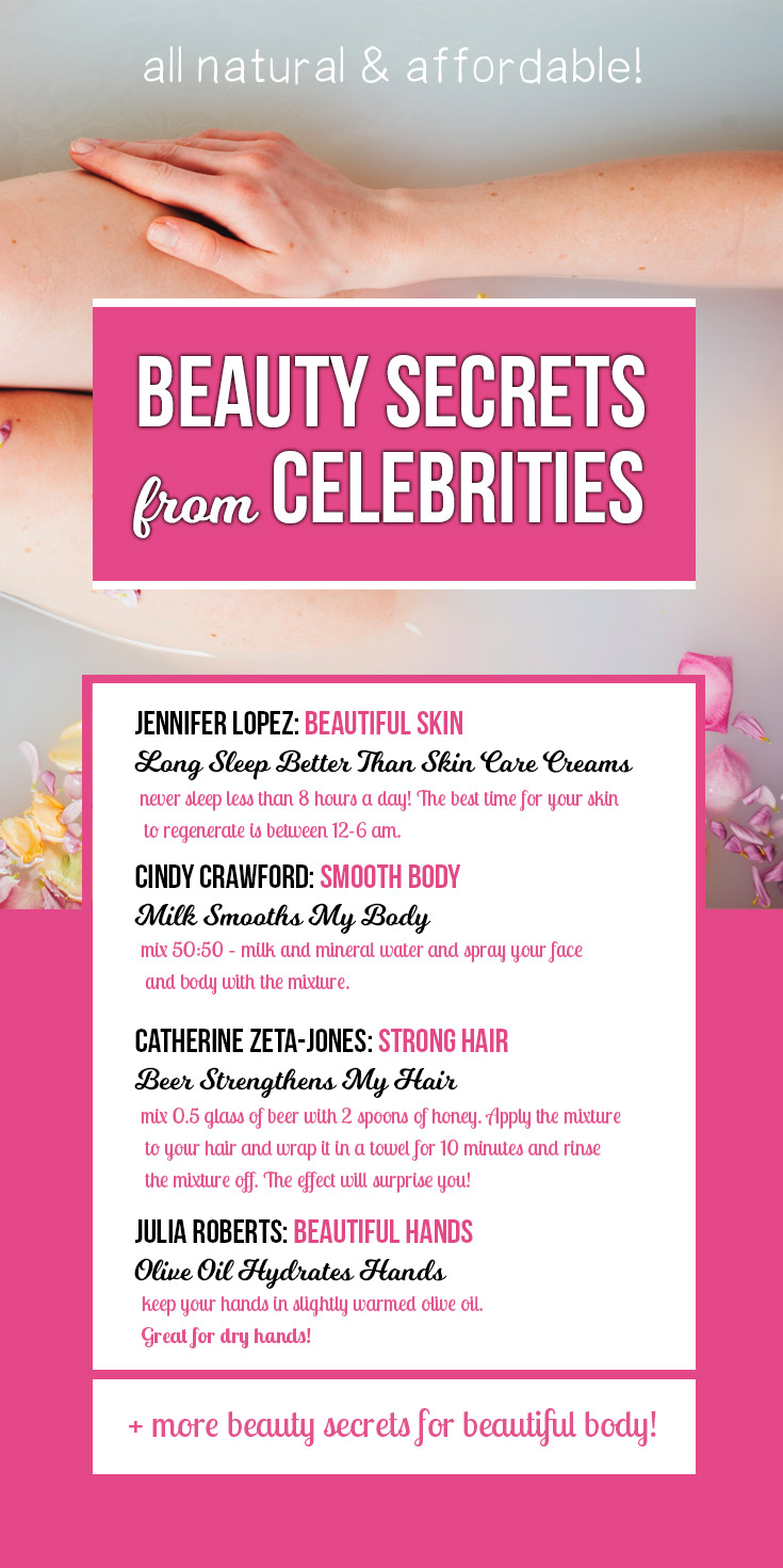 Beauty Secrets from Celebrities for Smooth Skin & Body