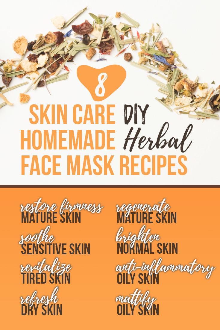 DIY Skin Care Homemade Herbal Face Mask Recipes